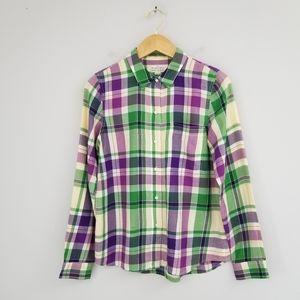Madewell Broadway Broome Shrunken Plaid Boy Shirt